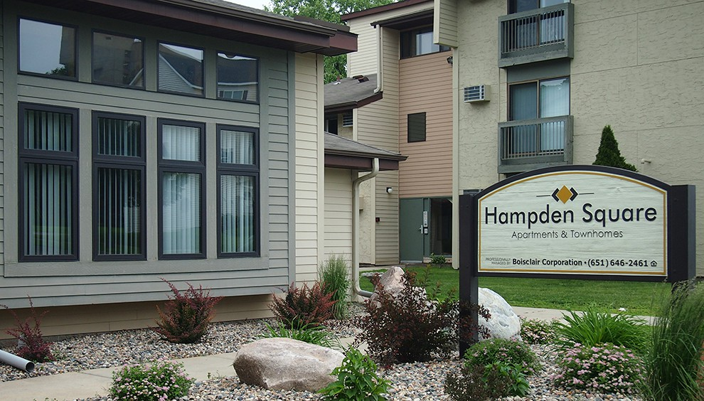 Apartments Near Hamline Hampden Square Apartments & Townhomes for Hamline University Students in Saint Paul, MN