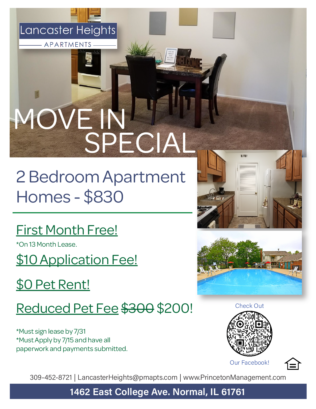 Apartments Near ISU Lancaster Heights for Illinois State University Students in Normal, IL