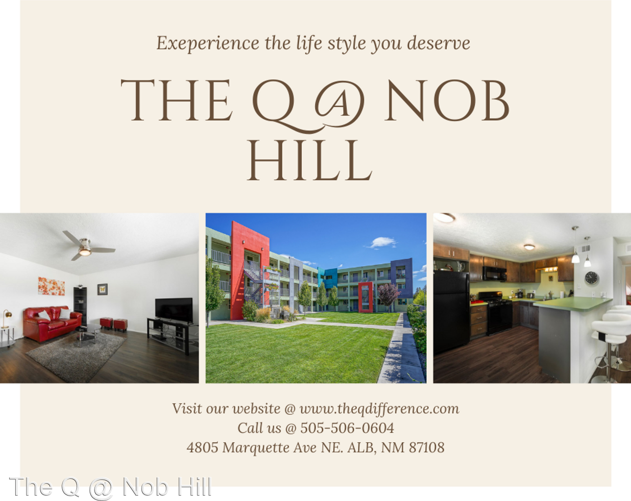 Apartments Near CSF-ABQ The Q @ Nob Hill for College of Santa Fe at Albuquerque Students in Albuquerque, NM