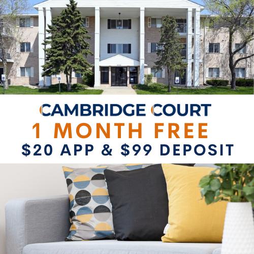 Apartments Near DMACC Cambridge Court for Des Moines Area Community College Students in Des Moines, IA